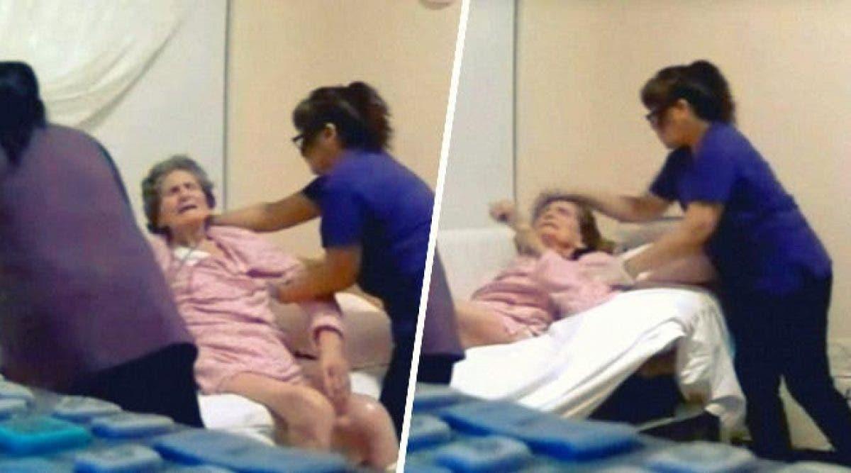 aides-soignants filmés secrètement en train de maltraiter une mamie dans une maison de retraite