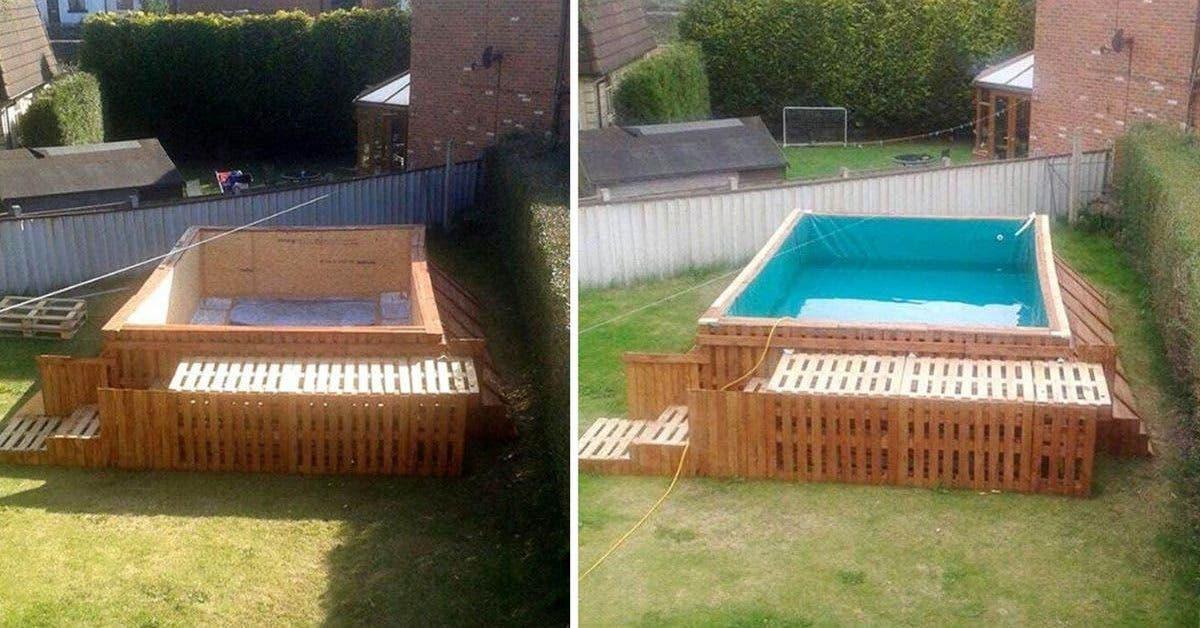 apprenez à construire une piscine à l'aide de palettes en