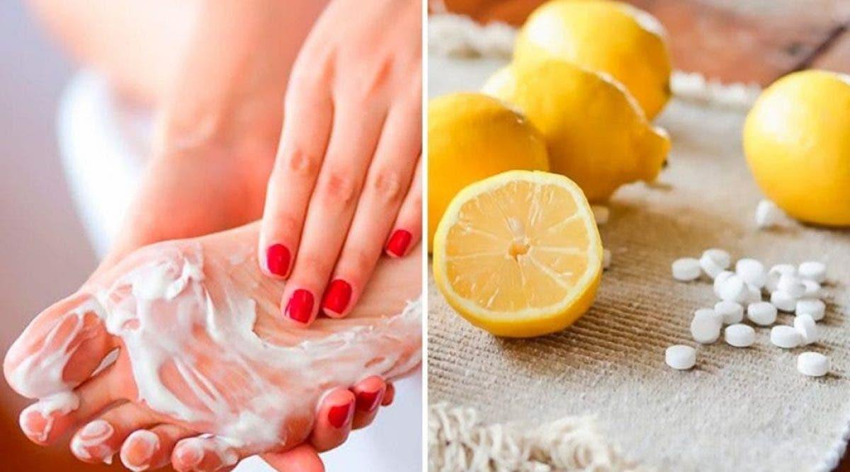 utiliser l'aspirine et le jus de citron pour avoir des pieds plus doux