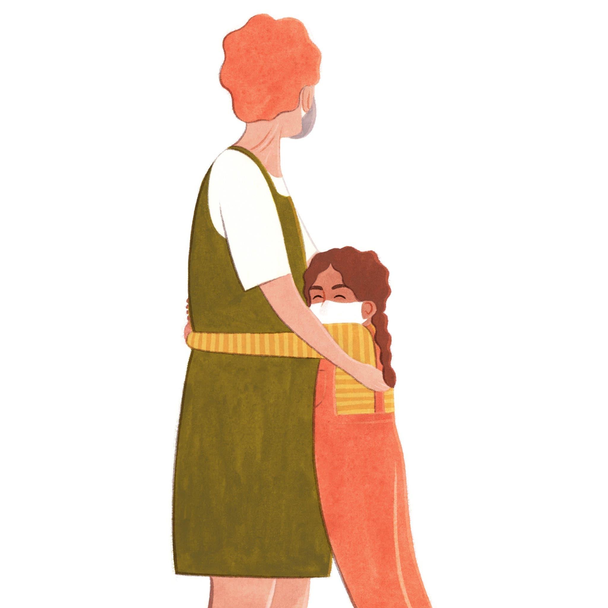 autoriser enfants calin niveau taille ou genou