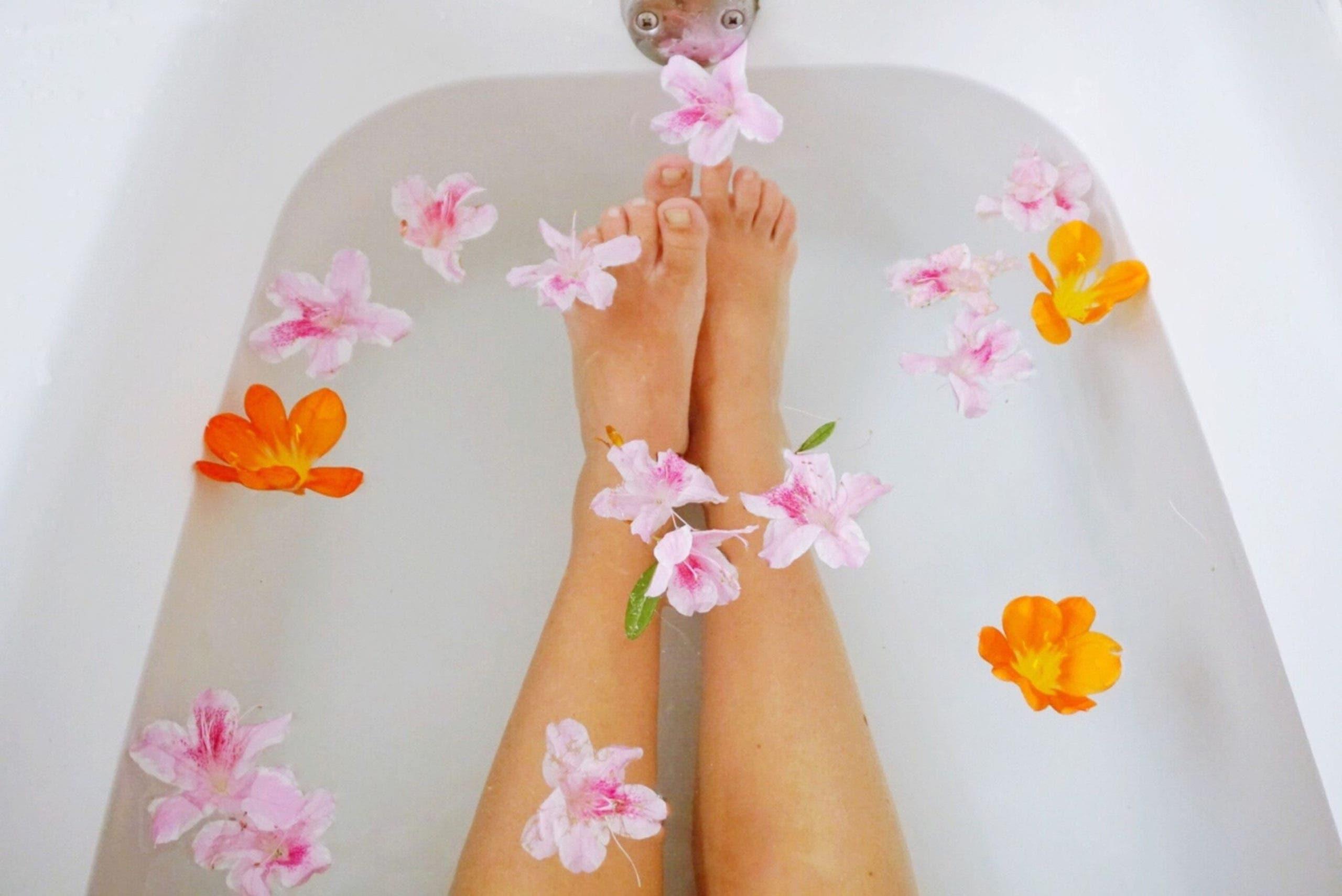 bain a fleurs