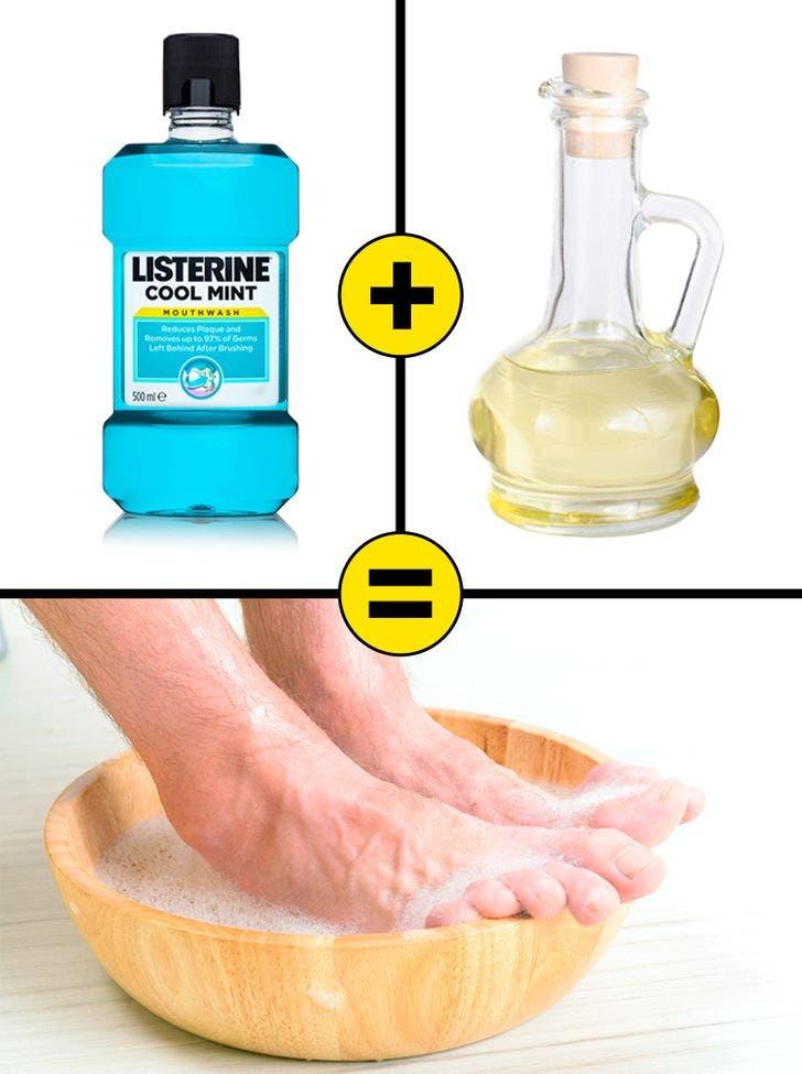 bains de pieds listerine