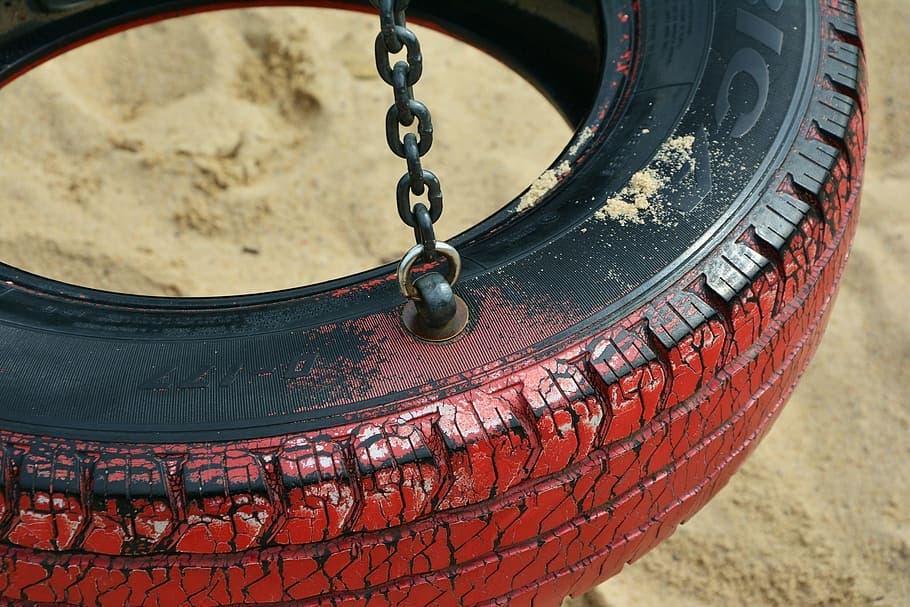 balancoire pneu