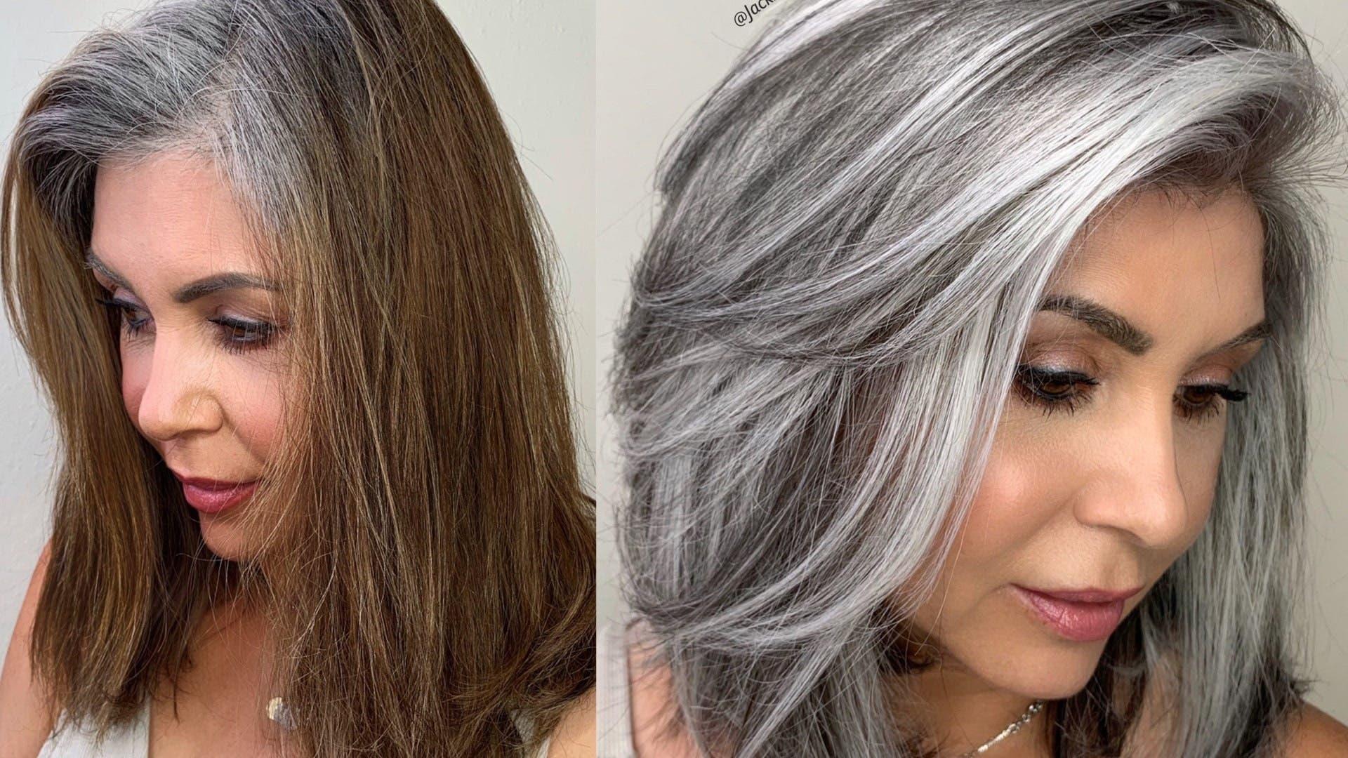 balayage gris