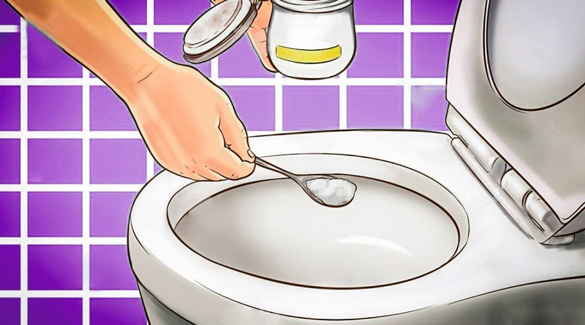le bicarbonate de soude permet aux toilettes de sentir toujours bon