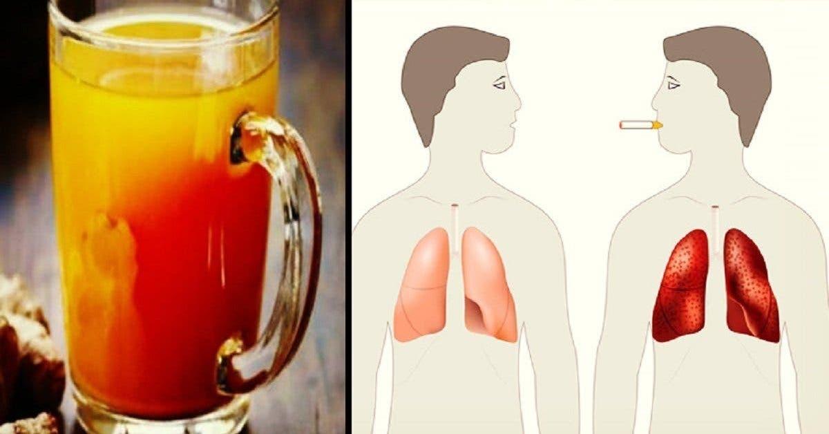 boisson au gingembre nettoyer les poumons des fumeurs et des anciens fumeurs