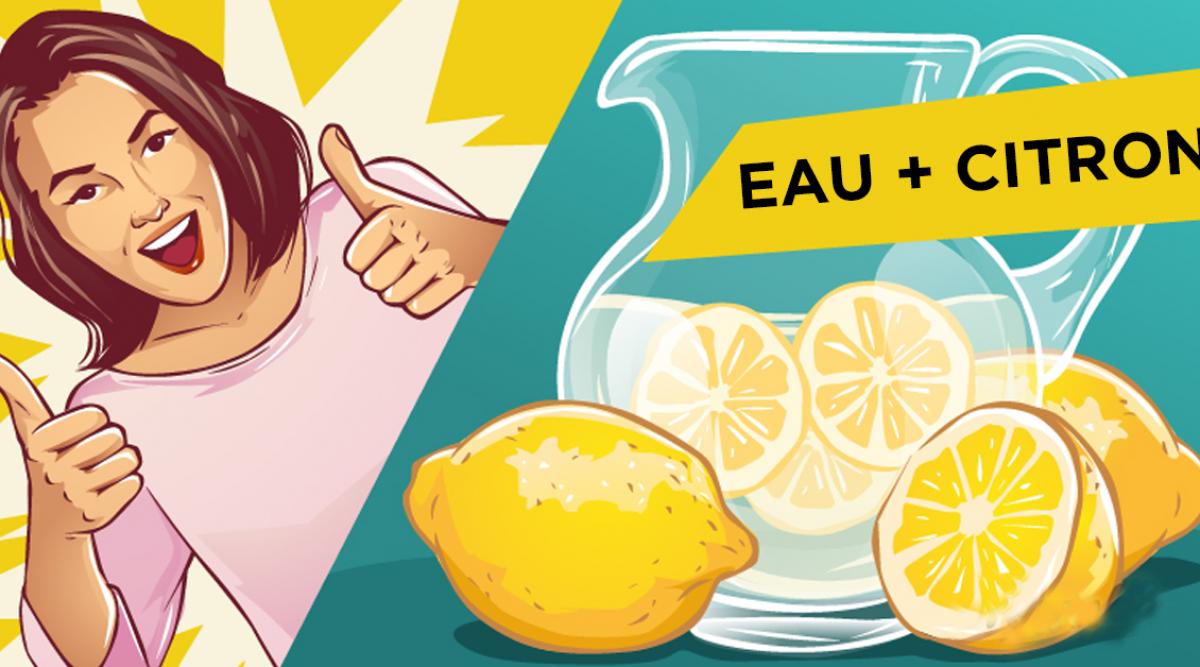 bonnes raison pour utiliser l'eau au citron