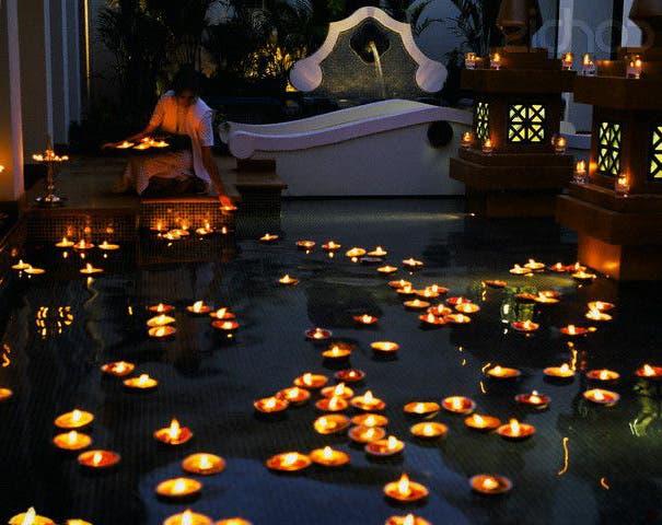bougies flotantes