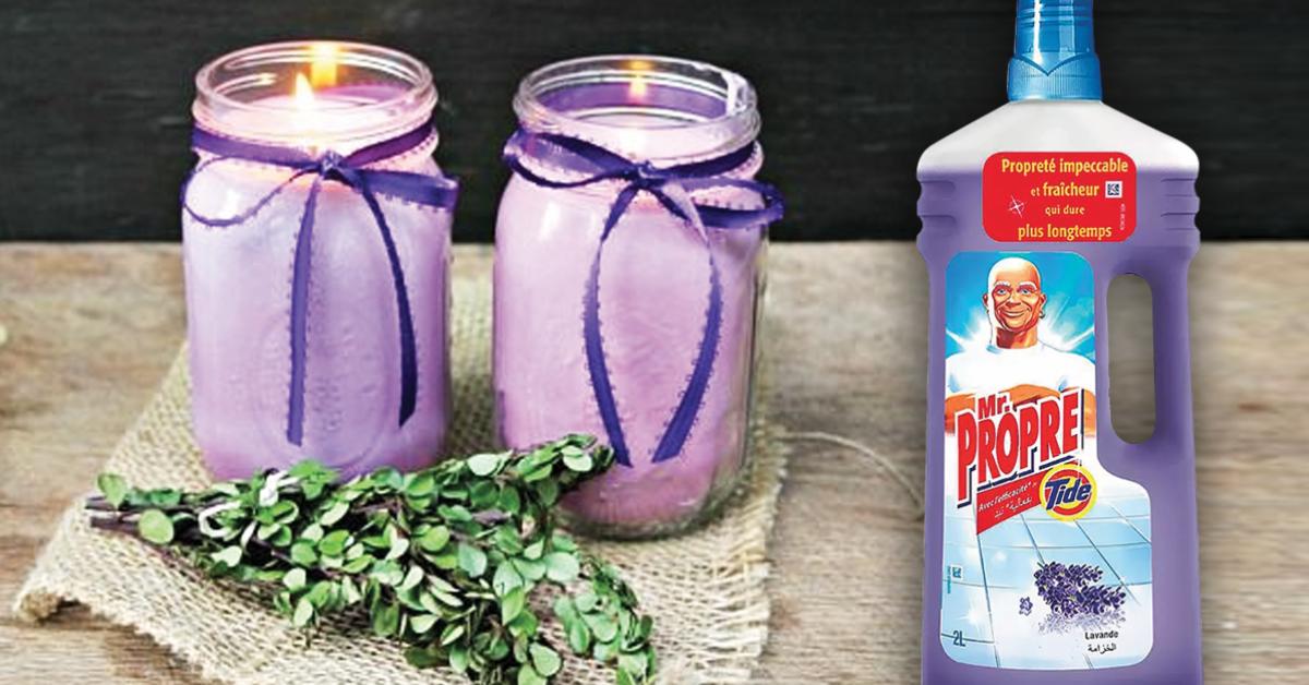 Comment fabriquer des bougies parfumées à la lavande avec un nettoyant ménager ?