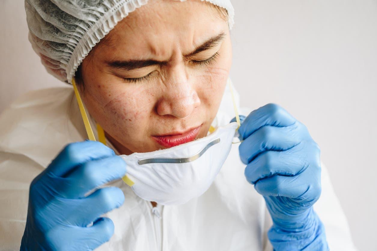 bouton masque coronavirus