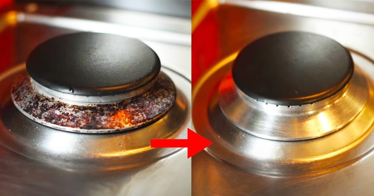 Une astuce ultra efficace pour nettoyer les brûleurs de la gazinière