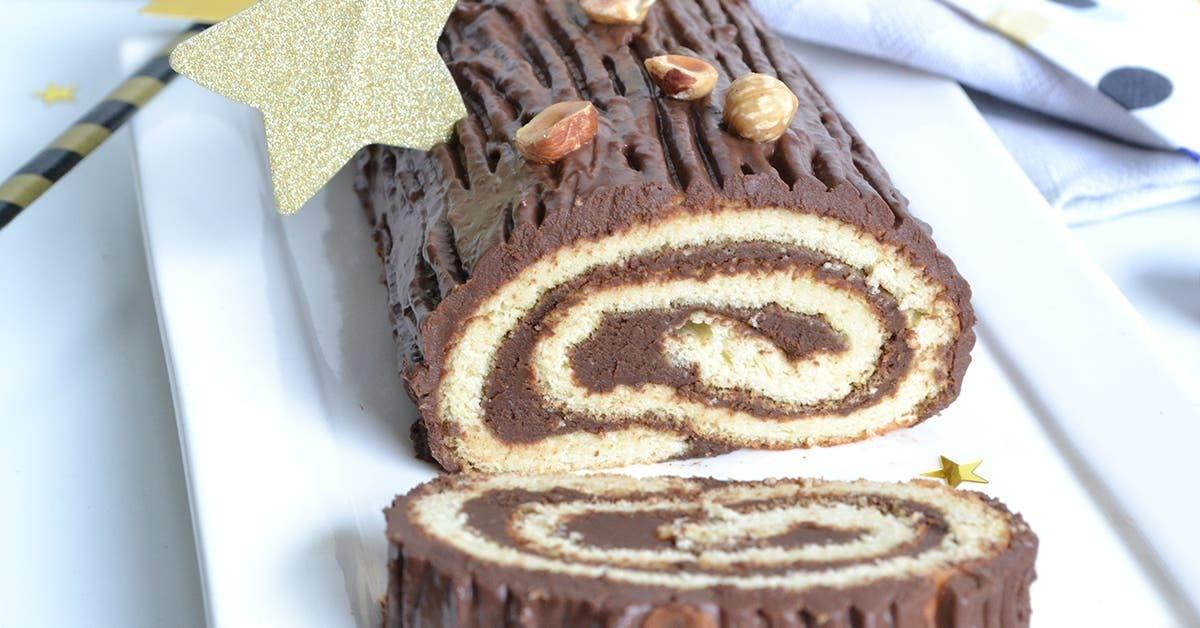 buche au chocolat noisettes sans sucre sans gluten et absolument delicieuse 1