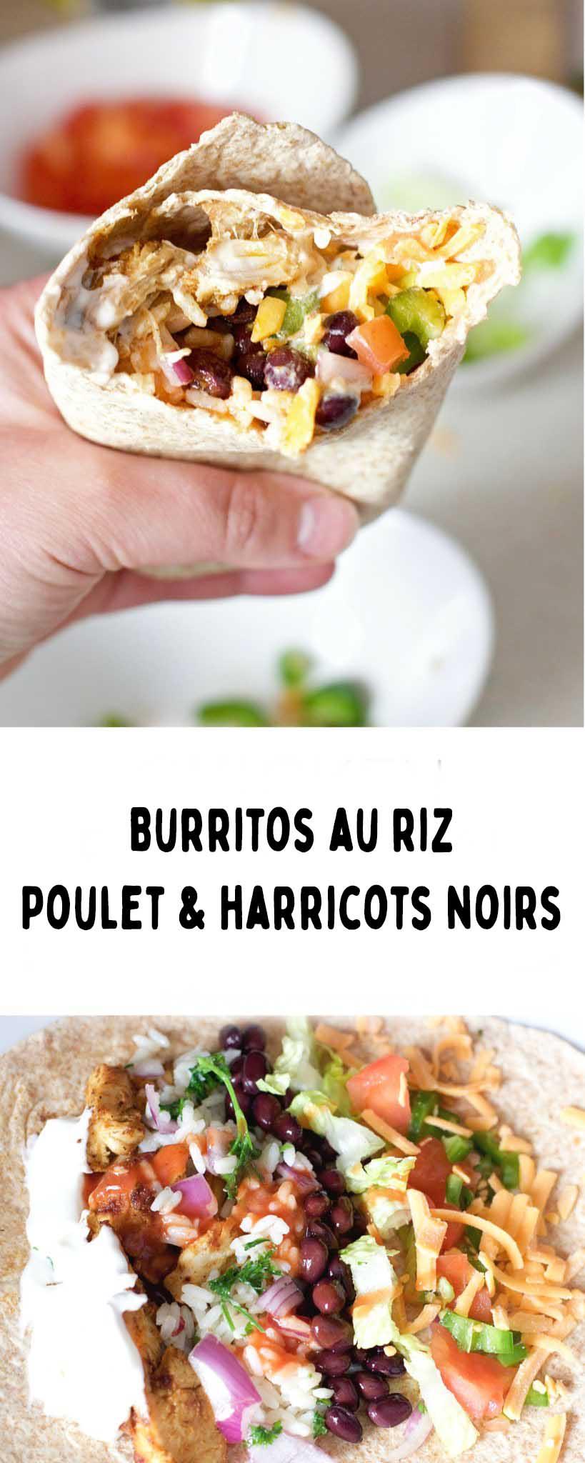 burrito harricots noir poulet