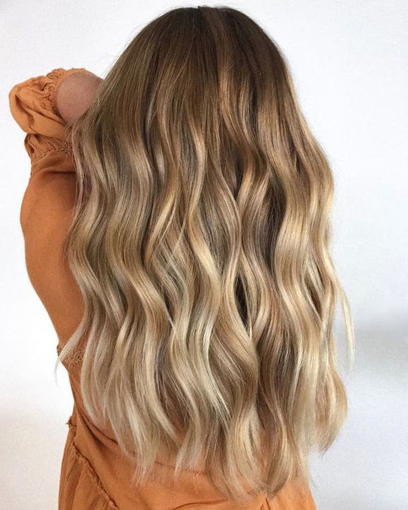 buttery blonde waves