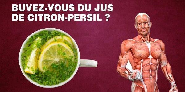 Voici ce qui arrive à votre corps lorsque vous buvez du jus de citron au persil pendant 5 jours