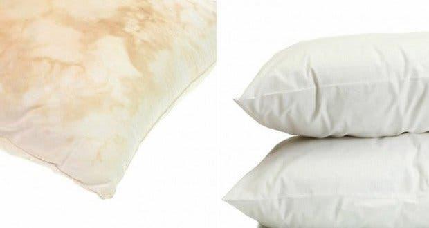oreiller jauni Cette astuce simple va faire blanchir vos vieux oreillers jaunis  oreiller jauni