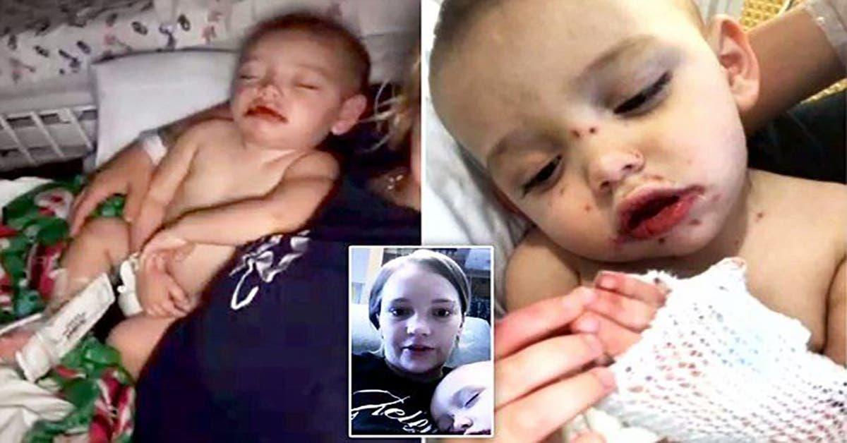 cette maman trouve plaies sanglantes bouche de bebe de 1 an lorsquelle regarde de plus pres decouvre horreur 1
