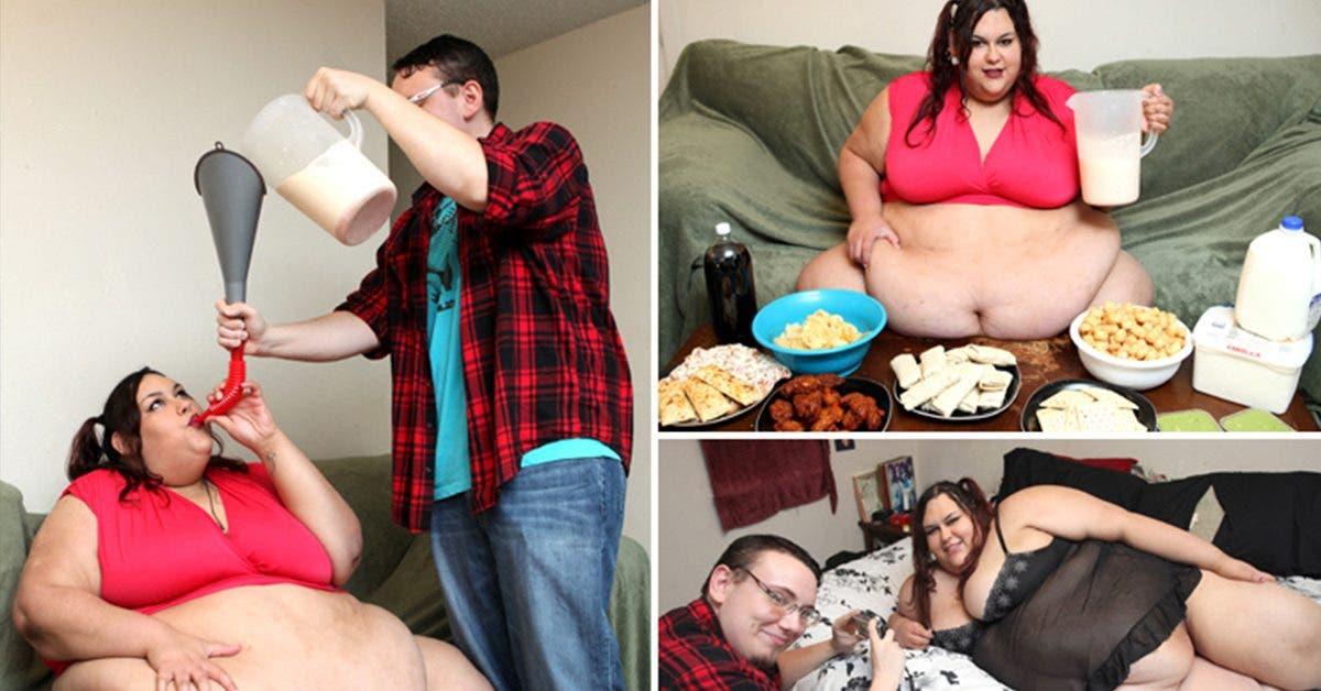 cette-mannequin-obese-veut-etre--la-femme-la-plus-grosse-du-monde--son-petit-ami-la-nourrit-avec-un-entonnoir