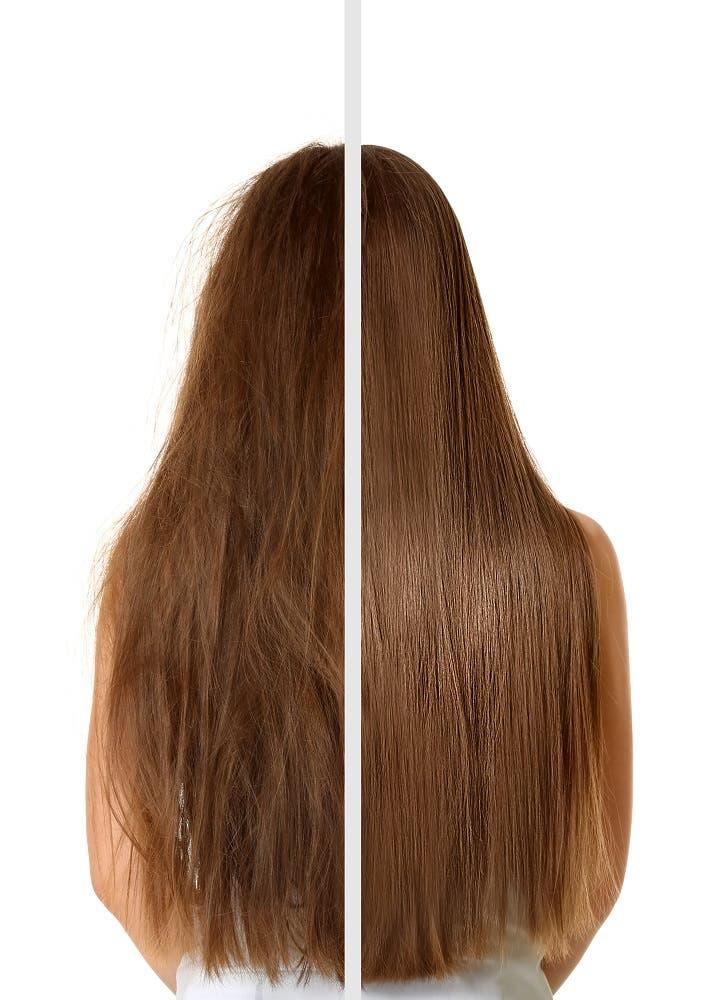 cheveux brillants