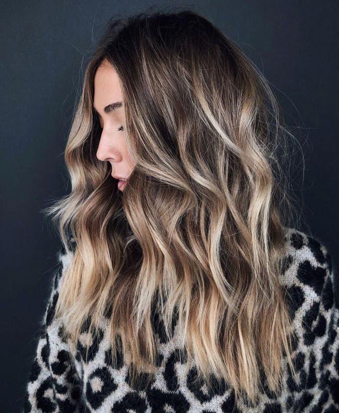 cheveux brun reflets
