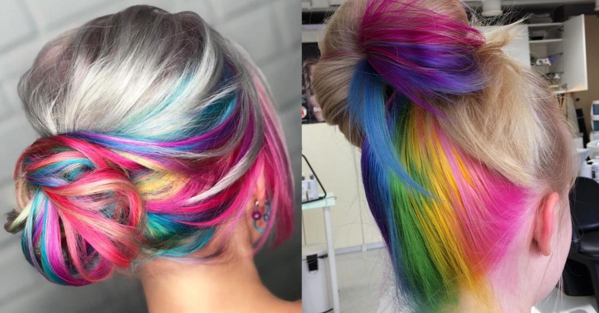 Cheveux colorés à l'arrière : 30 photos et tutoriel