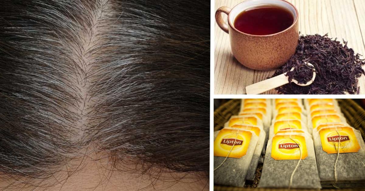 Voici comment colorer les cheveux gris avec du thé noir