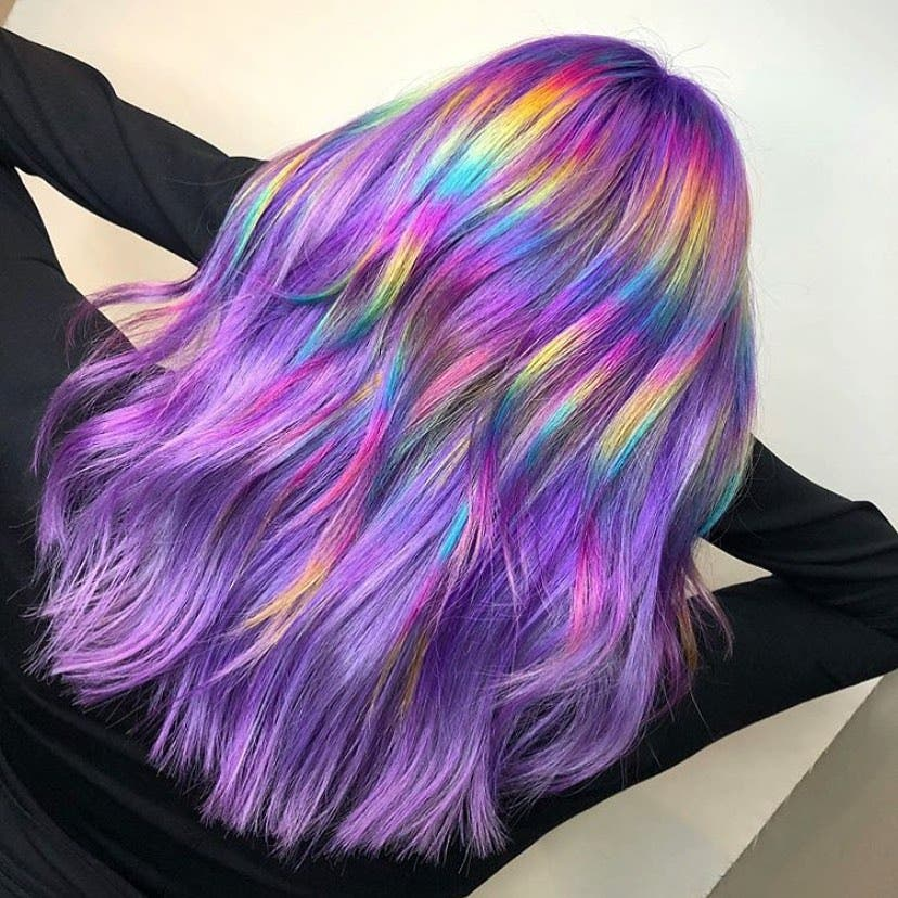 cheveux holographique