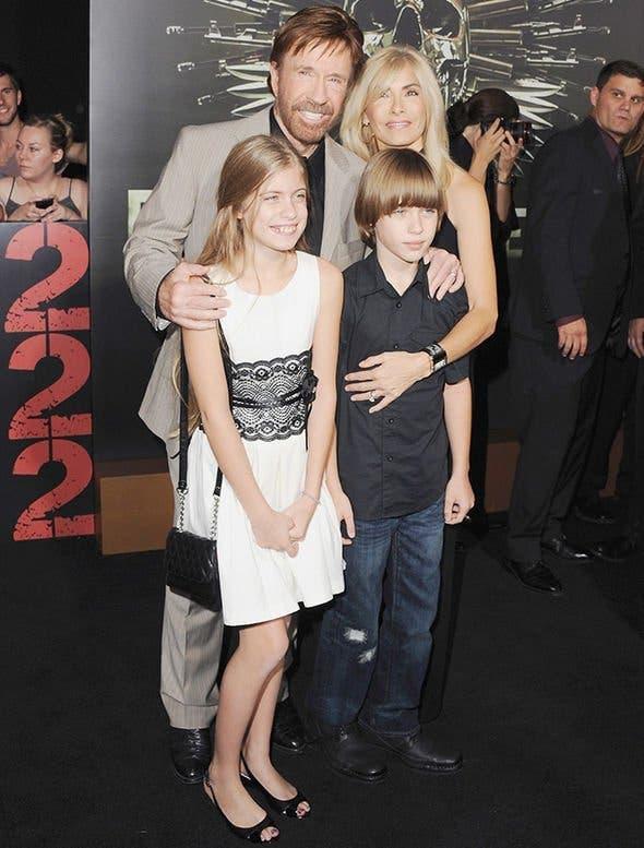 chuck norris et sa famille