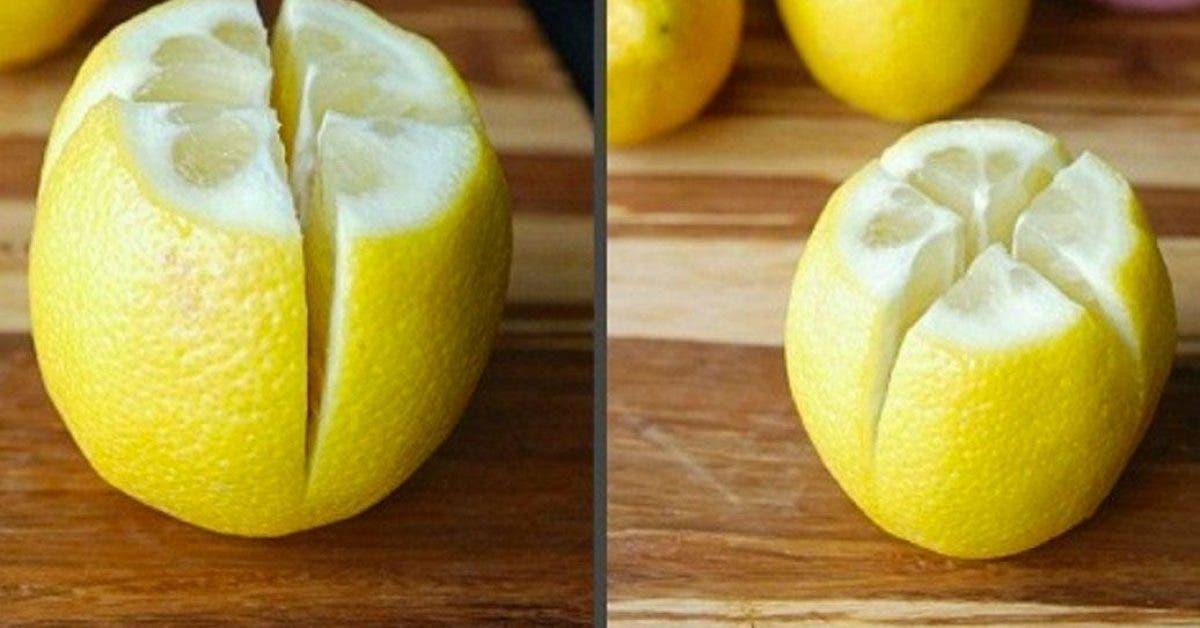 citron coupé en deux dans votre chambre