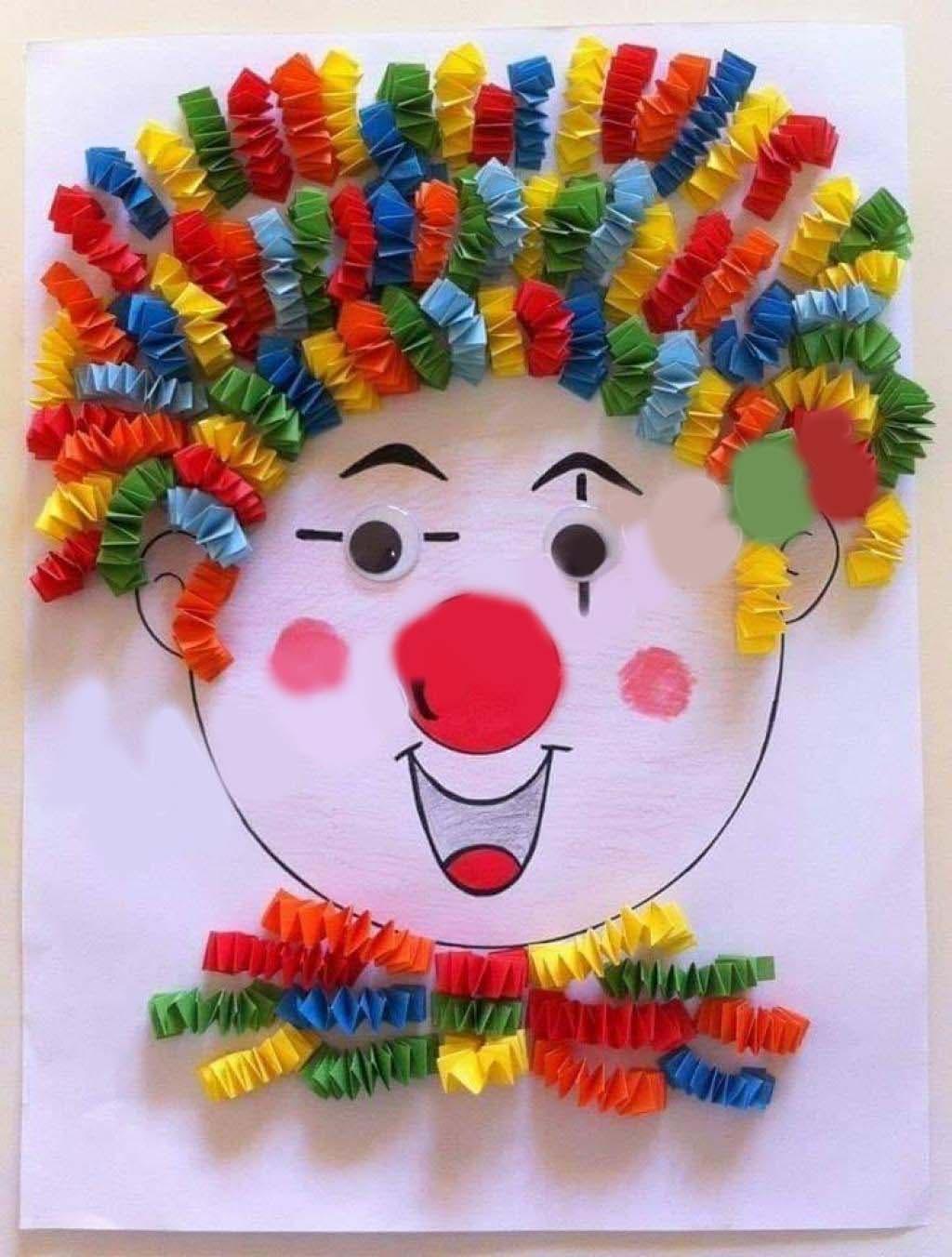 clown cheveux multicolores