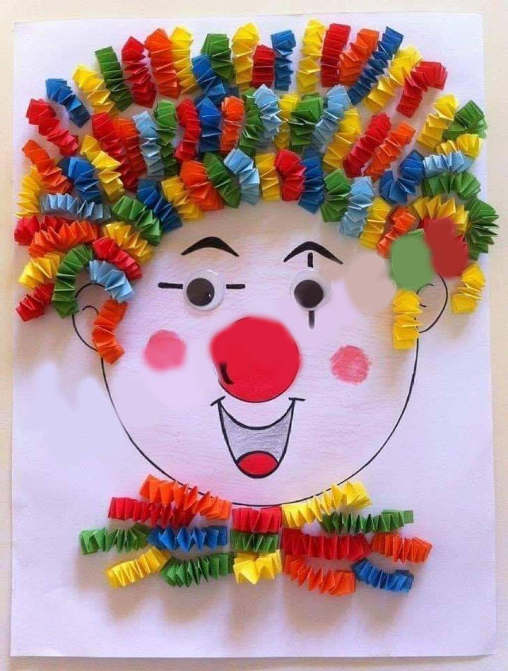 clown cheveux multicolores