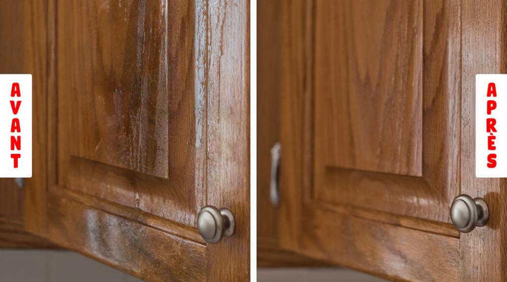 comment degraisser les meubles de la cuisine et polir le bois pour les rendre comme neufs