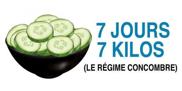 le programme concombre permet de brûler 7 kilos en une semaine