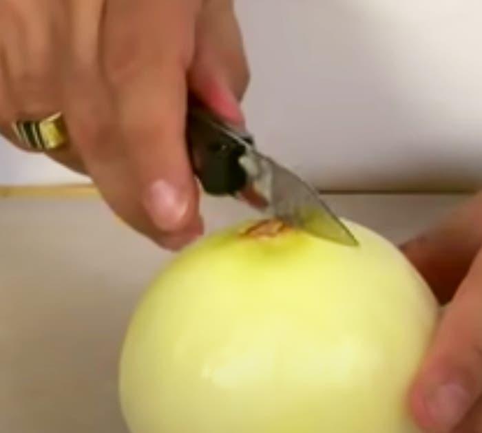 couper oignon