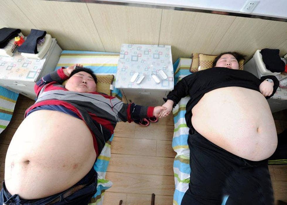 couple obese