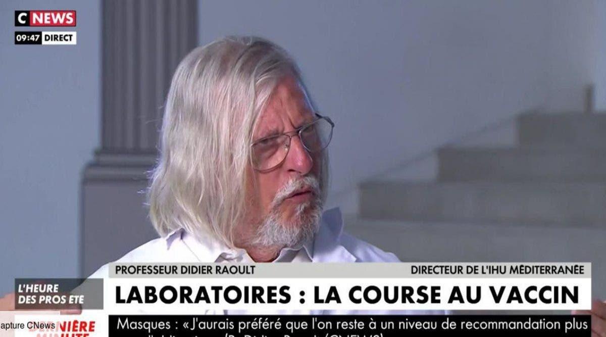 Le professeur Raoult déconseille de se faire vacciner
