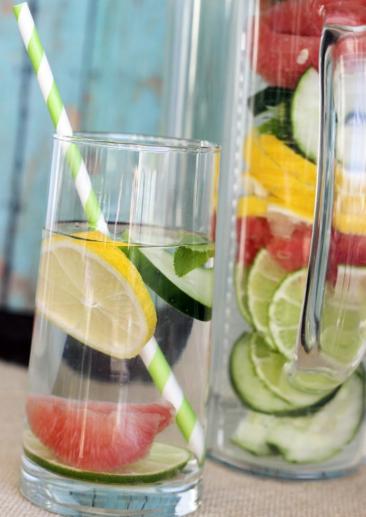 recettes d'eau détox