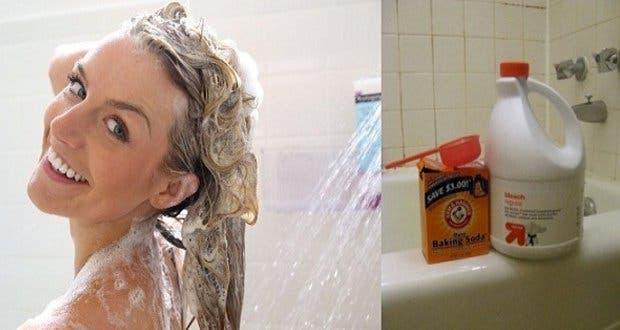 Elle se douche avec du bicarbonate de soude et quelque - Nettoyer douche avec bicarbonate ...