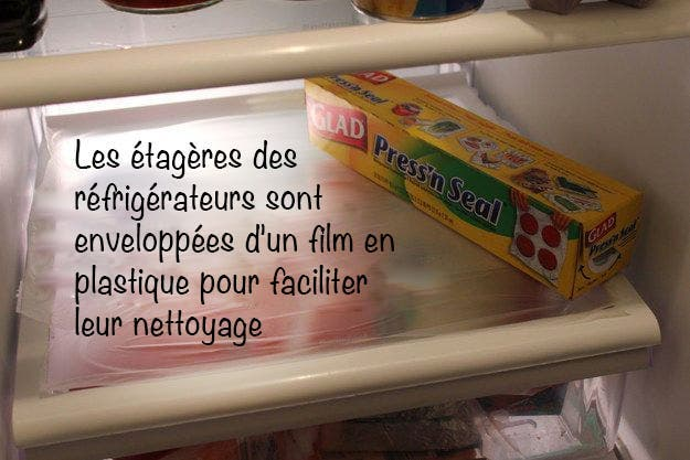 envelopper etagere refrigerateur