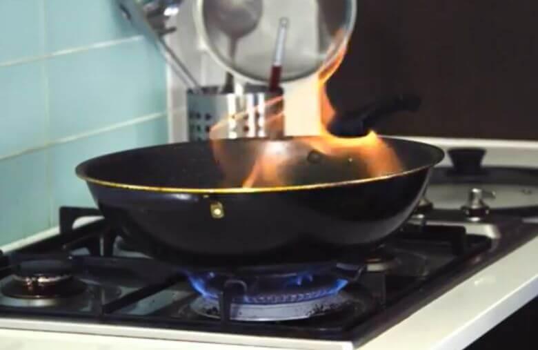 eteindre feu cuisson
