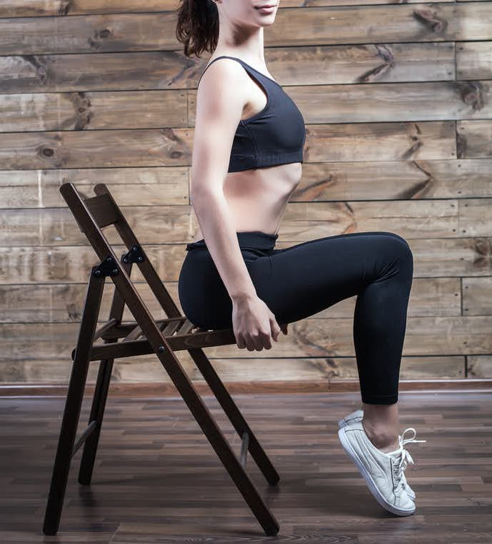 exercice fitness chaise