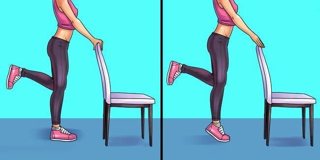 6 exercices pour supprimer les douleurs au pied au genou et à la hanche