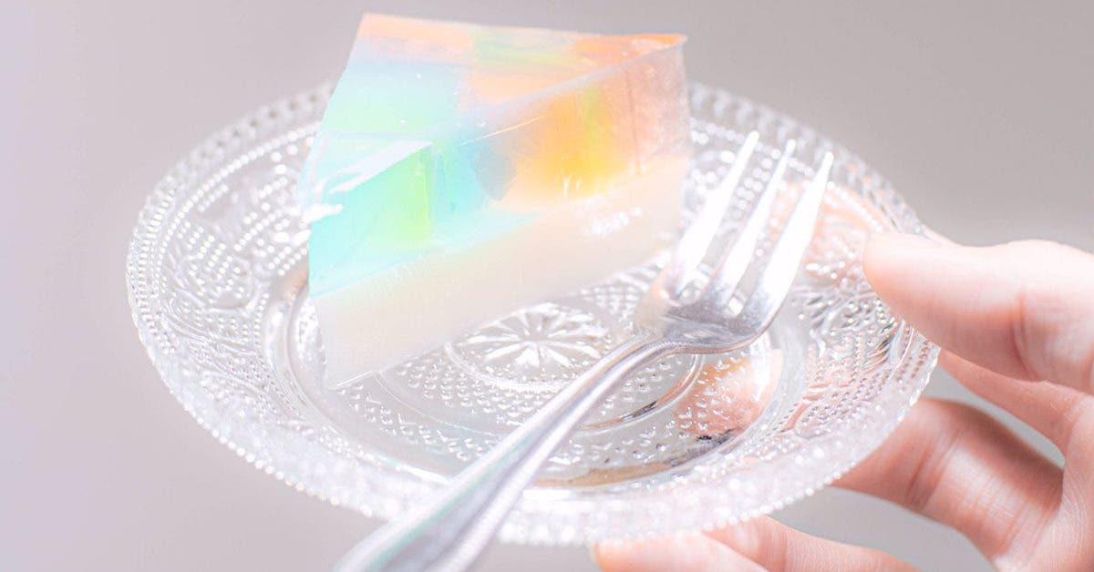 Recette de gâteau arc-en-ciel au lait gélifié, savoureuse et facile à cuisiner