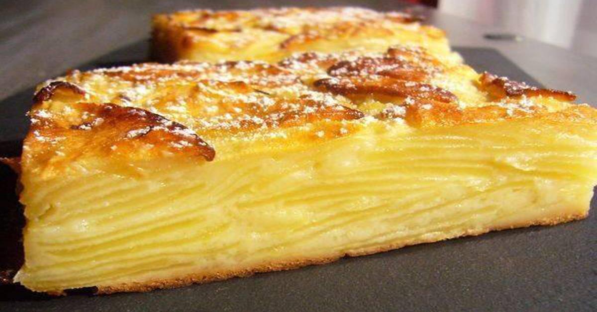 gâteau invisible aux pommes sans sucres et sans lait