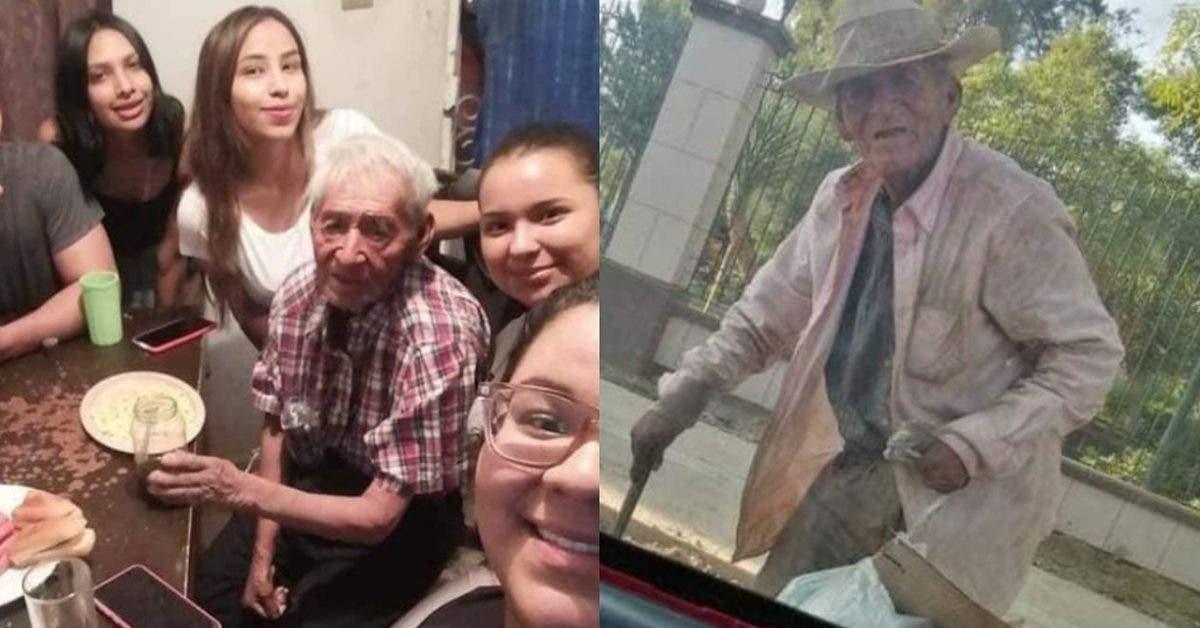 Une famille adopte un grand-père de 108 ans qui vivait seul sous un arbre