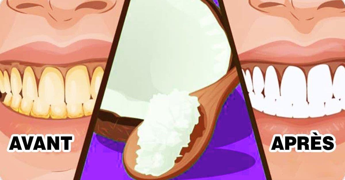 noix de coco permet d'éliminer la plaque dentaire