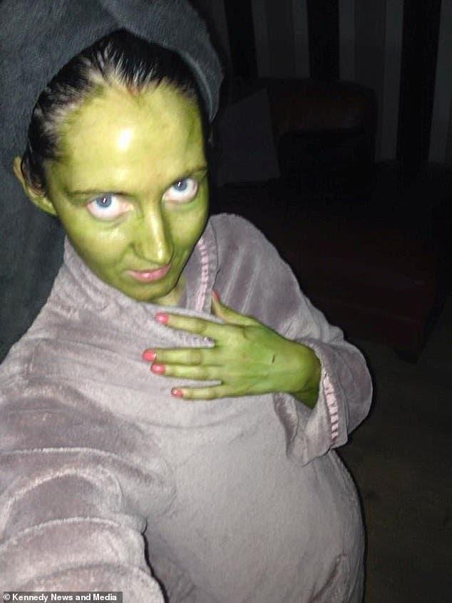 jenni masque vert