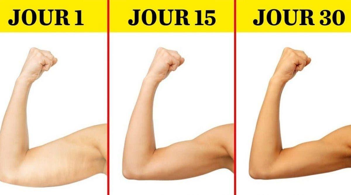5 exercices pour perdre la graisse des bras en 1 mois