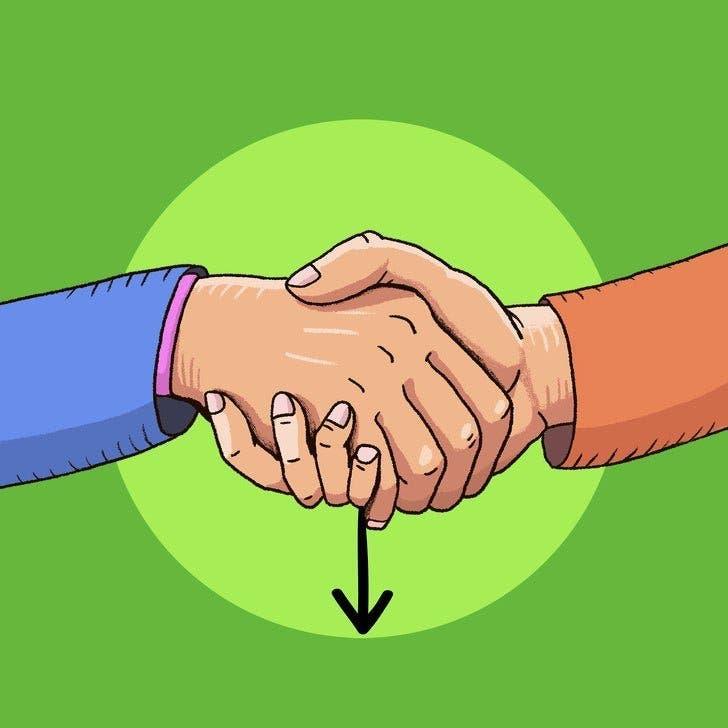La façon avec laquelle vous serrez la main en dit beaucoup votre personnalité