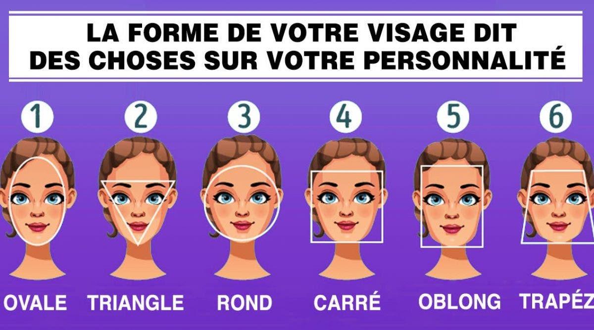 La forme de votre visage dit des choses sur votre personnalité et votre caractère